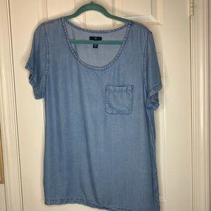 Woman's gap chambray shirt top blouse size large